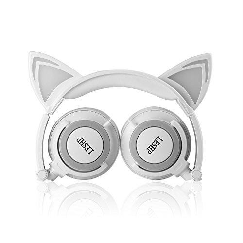 Headphones LESHP Flashing Foldable Over Ear