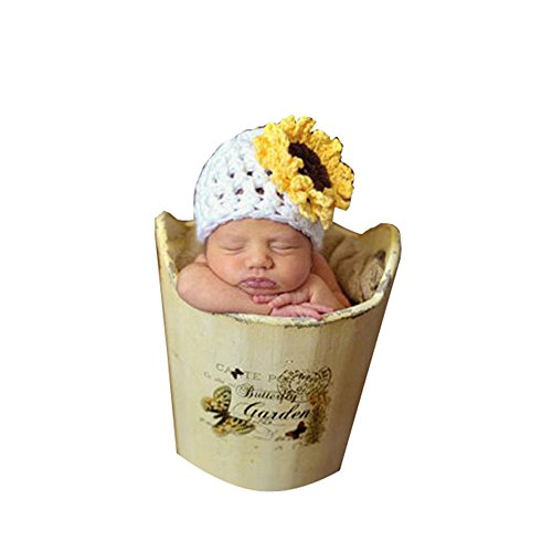 CX-Queen Baby Photography Prop Crochet Handmade Knit Newborn Sunflower (Sunflower Costumes Infants)