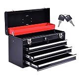 Portable Tool Chest Box Storage Cabinet Garage Mechanic Organizer 3 Drawers