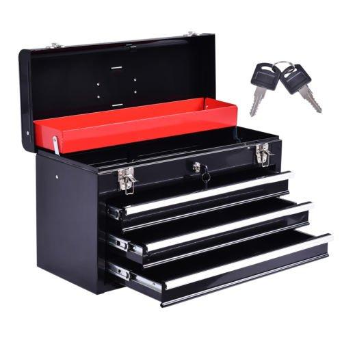 Portable Tool Chest Box Storage Cabinet Garage Mechanic Organizer 3 Drawers by Balance World Inc
