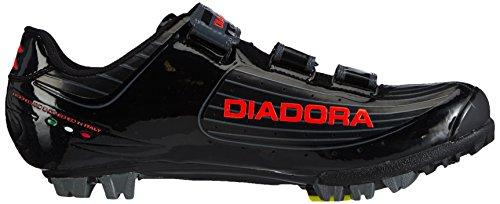 Diadora X Tornado Unisex-adult Fietsschoenen - Mountainbike Zwart (zwart / Oranje 4115)