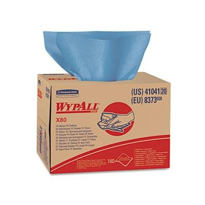 Kimberly-Clark Professional - Wypall X80 Wipers Brag Box Hydroknit 12 1/2 X 16 4/5 160 Wipers/Carton Product Category: Breakroom And Janitorial/Cleaning Tools & Supplies