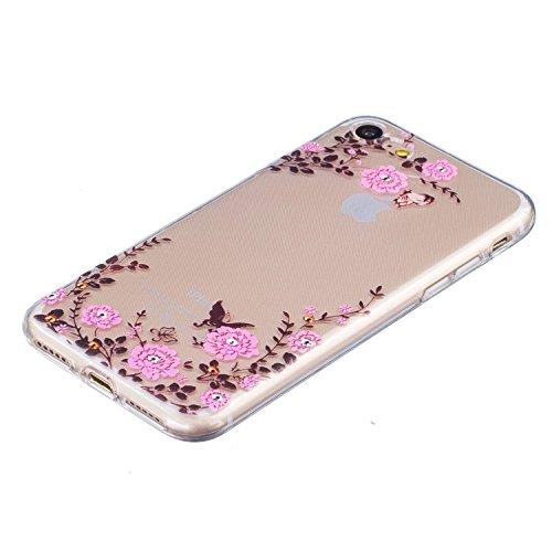 Voguecase® für Apple iPhone 7 hülle, Schutzhülle / Case / Cover / Hülle / TPU Gel Skin (Garten) + Gratis Universal Eingabestift
