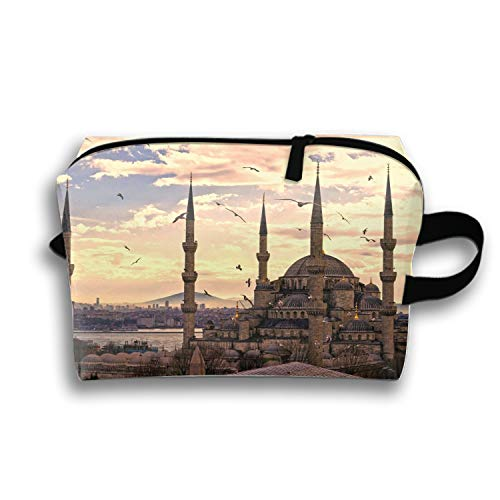 - Women's Travel Cosmetic Bags Sultan Ahmed Mosque Istanbul Turkey Small Makeup Clutch Pouch