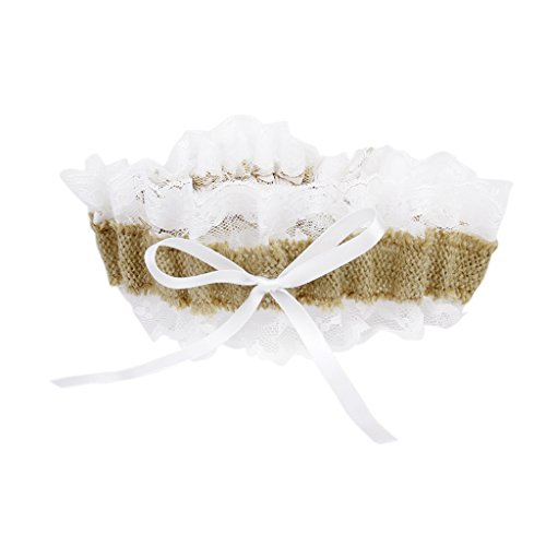 Country Wedding Garters: Garter Country Romance Jute Burlap And Lace Bridal Wedding