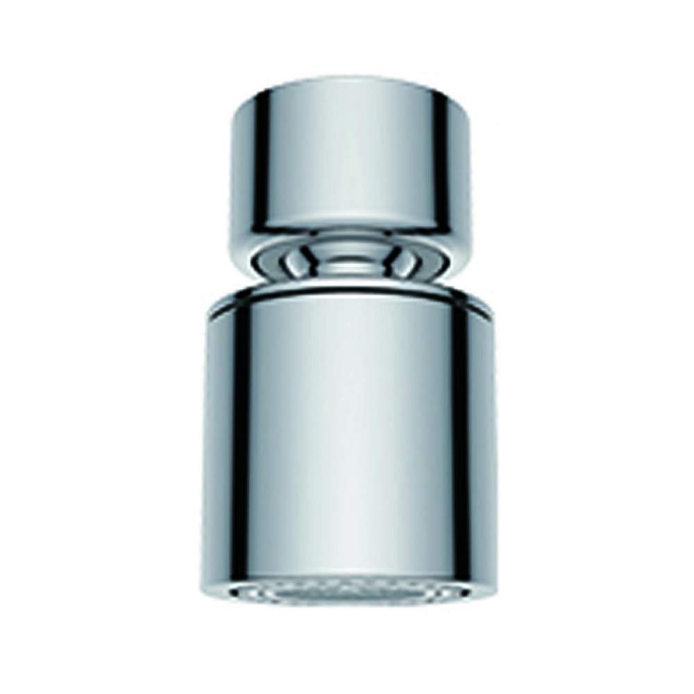 Waternymph NSF Certified Dual-function 2-Flow Kitchen Sink Aerator, 360-Degree Swivel Faucet Aerator Dual Sprayer, with Gasket Faucet Replacement Part - 55/64 Inch-27UNS Female Thread - Chrome- Swivel