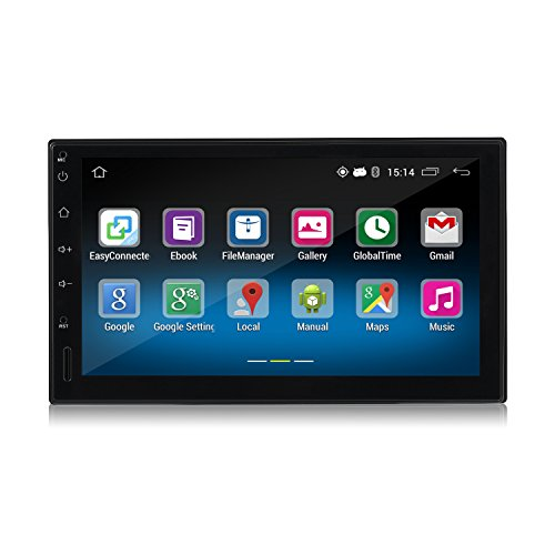 Android Car Player,LESHP Double 2DIN Android 5.1 Car Radio Stereo 7 Inch Touch Screen High Definition 1024x600 GPS Navigation Bluetooth USB SD Player 1G DDR3 + 16G NAND Memory Flash for Car, Truck