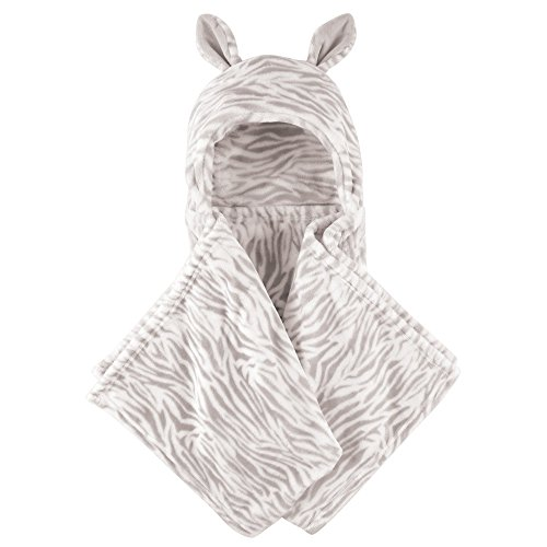 Hudson Baby Hooded Plush Blanket, Zebra, One Size