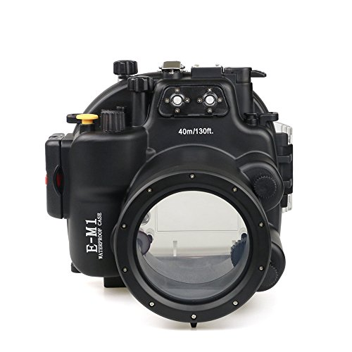 Underwater Case 130FT/40M Camera Waterproof Housing Diving Case for Olympus E-M1 from Sea frogs