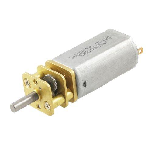 Uxcell 10rpm 6v 60ma 3mm shaft mini dc geared gear box for Mini gear motor dc