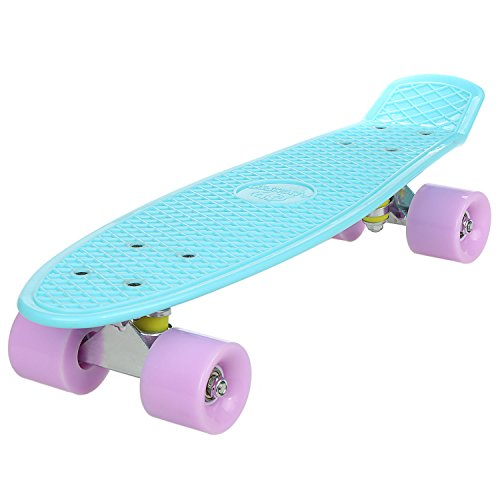 """New Anfan 22"""" Mini Cruiser Skateboard, Classic Compete Deck Outdoor Skate Board for Kids and Beginners (US STOCK)"""