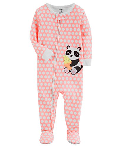 Sleeper Panda (Carter's Baby Girls' One Piece Neon Panda Snug Fit Cotton Pajamas 12 Months)
