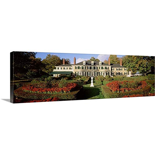 GREATBIGCANVAS Gallery-Wrapped Canvas Facade of a House, Hildene Home of Robert Todd Lincoln, Manchester, Vermont by 36