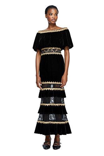 Tadashi Shoji Alexa Dress- Bk/Gd- Size 12 ()