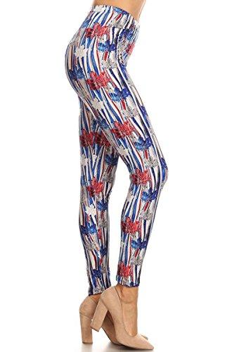 S555-OS American Maple Print Fashion Leggings (Best Leggings Brand Canada)