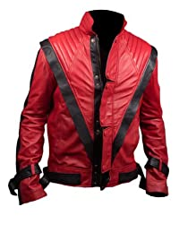 Michael Jackson Thriller Faux Leather Jacket in Red Colour