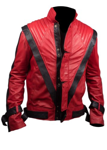 Michael Jackson Thriller Faux Leather Jacket in Red Colour-L ()