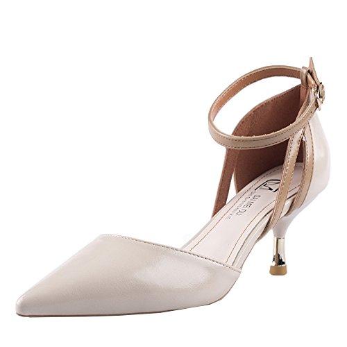 39 Sexy Hauts Ladies Chaussures EU 6cm Escarpins Dress Party Femmes Beige Pointu Ladies Toe 6 UK 5 Talons Court FqZtEEwxg