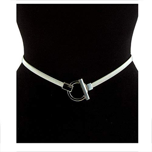eVogues Plus size O-Ring Pendant Buckle Metal Elastic Waist Belt Silver Tone - One Size - O-ring Plus Womens