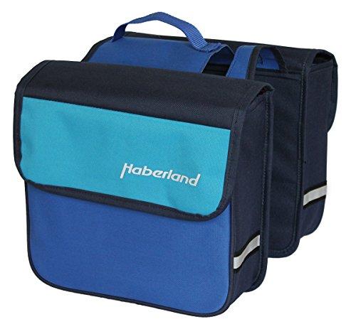 Haberland Fahrradtasche Jugendtasche F20 Zoll Räder, Blau, 32 x 34 x 16 cm, 18 Liter, DJ1910 24
