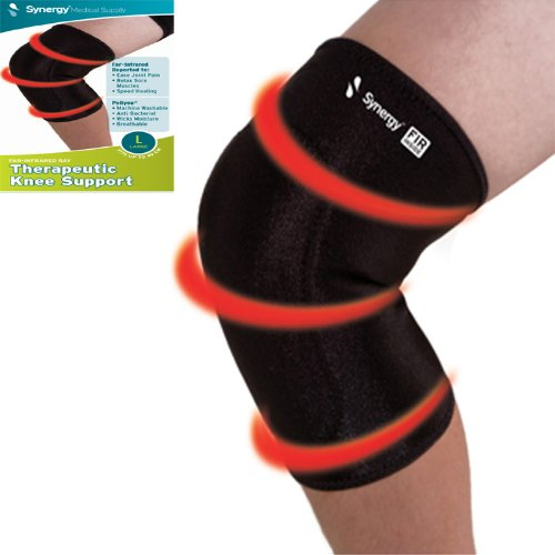 Synergy Far-infrared Ray Therapeutic Knee Support, - Largest Ray