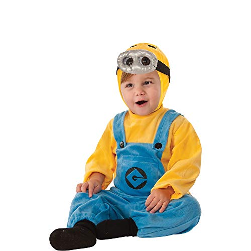 Despicable Me Minion Baby Halloween Costumes (RUBIE'S COSTUME CO Despicable Me 2 Dave Minion Costume for Infants, 12-24 Months, with Included)