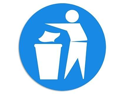 Amazon Round Blue 4 Throw Trash Away No Littering Do Not