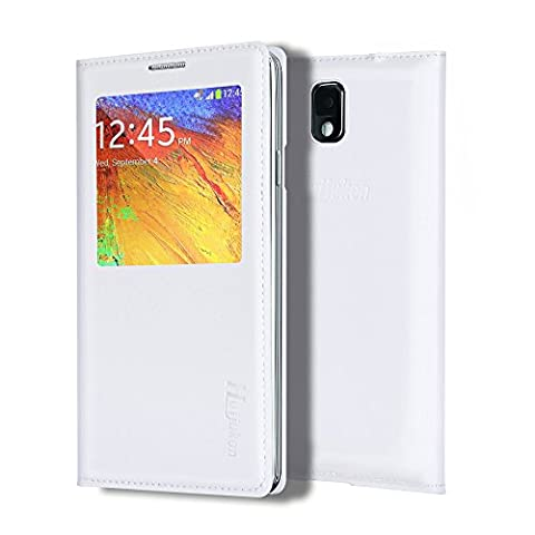 Note 3 Case, Galaxy Note 3 Case, Huijukon Elegant S-view Smart Flip Leather Case Cover with Auto Sleep/Awake Function for Samsung Galaxy Note 3 III (Galaxy 3 Phone Cases Flip Cover)