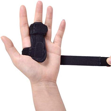 AWQREB Korrektur Fingerschiene - Einstellbare Aluminium Finger Hand Splint Erholung Verletzung Schmerz Biegeverformung