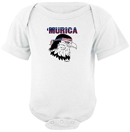 Patriotic Baby Gift Murica Bald Eagle Cute USA Patriotic Bodysuit Newborn (Patriotic Military Infant Bodysuit)