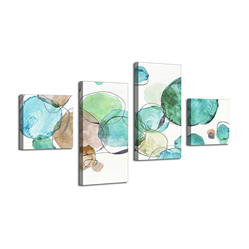Abstract Art Painting Canvas Prints: Wild Garden Silver Foil Artwork for Home Decor