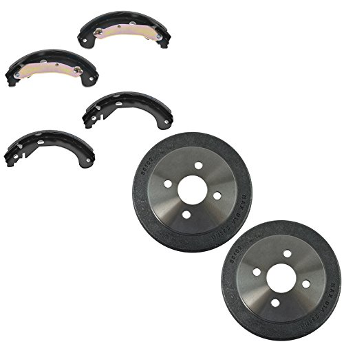 Drum Brake Chevy (Brake Drum & Shoe Rear Kit Set for Chevy Cobalt Pontiac G5 Saturn Ion)
