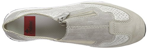 Rieker 56067 Women Loafers - Mocasines Mujer Gris (ice/ice/staub / 81)