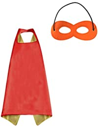 Kids Superhero or Princess Cape and Mask Set Halloween Costume, 27.5 In