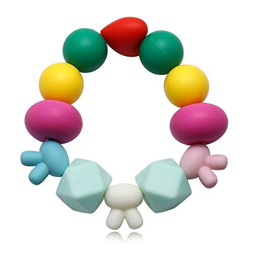 Aokarry Jewelry Unisex Silikon Women Elegant Heart Shape Friendship Bracelet Rabbit Set Colorful 18CM
