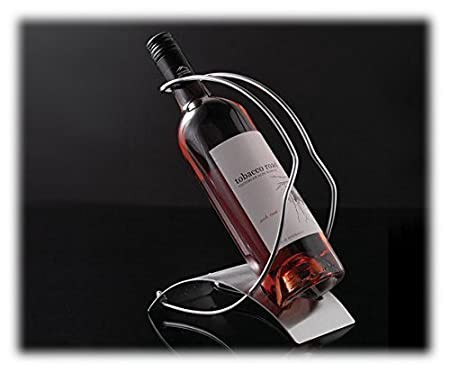 Asc Wine Bottle Holder Rack Brushed Steel Plate Wire Holder Open Or