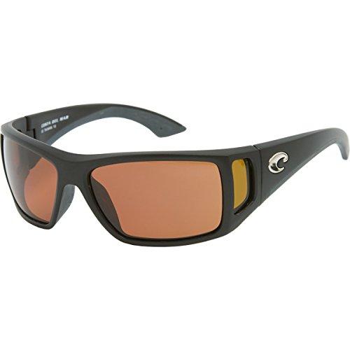 Costa Del Mar Bomba Sunglasses Black w/Amber Side/Copper - Glasses Mar Discount Del Costa