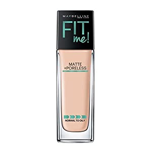 Maybelline Makeup Fit Me Matte + Poreless Liquid Foundation Makeup, Ivory Shade, 1 fl oz