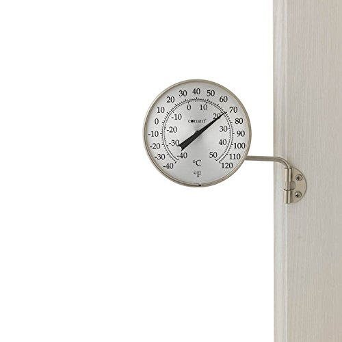 Continental T6SN-CA Conant 4 Dial Thermometer-Satin Nickel