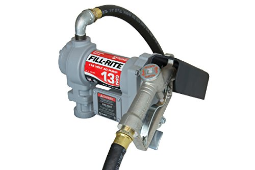 Fill-Rite Fuel SD602 Fluid Transfer Pump, Adjustable Suction Pipe, 10' Delivery Hose, Manual Release Nozzle - 115 Volt, 13 (Tuthill Diesel Fuel Transfer Pump)