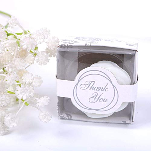 (AI·X·IANG AiXiAng 24 Pack Handmade White Rose Style Soap Favors Guests Keepsake Gift for Wedding Gift Baby Favors, Parties, Thanksgiving Gifts ,Bridal Shower Favors Decorations Gifts ,Wedding)