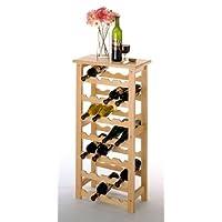 Estante del vino de 28 botellas - madera de haya