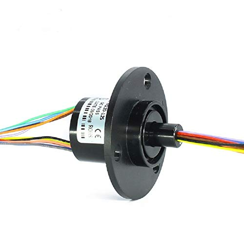 SENRING Mini Capsule Electrical Slip Ring 22mm 12 Wires 2A 250RPM 240VDC VAC Signal Transmission Rotary Connector for Robotic monitor (12 Wires 2A) ()