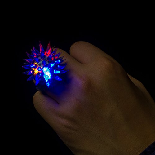 Fun Central AC809 96 Counts LED Light up Flashing, Blinky Jelly Rings,Assorted Styles and Colors - Kids Party Supply and Toys Birthday Party Favors, Giveaways, Goodie Bag Fillers, Gifts, Prizes by Fun Central (Image #3)