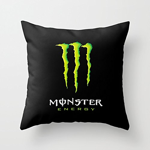 Price comparison product image Aminayo Throw pillow cover monster energy Case with Good-Looking And Rich Color Printing for Bed Couch Sofa