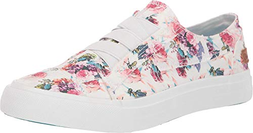 Blowfish Malibu Womens Marley Shoes, Latte Spots Print Canva