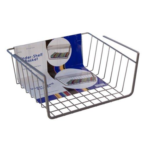 Organized Living Under Cabinet Basket, Nickel