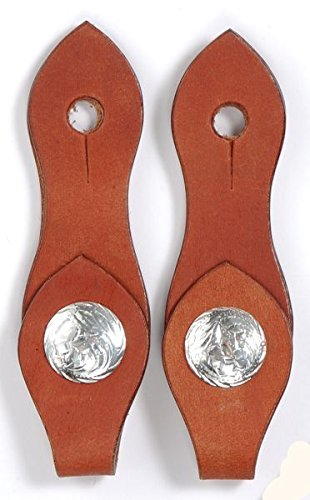 King Series medium tan fancy slobber straps w/silver concho horse tack - Concho Fancy