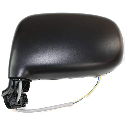 - New Front Left Driver Side Power Door Mirror For 1991-1997 Toyota Previa Manual Folding, Non-Heated, Textured Black TO1320158