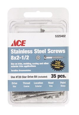 UPC 008236731378, The Hillman Group 41963 Power Pro Stainless Steel Star Drive Trim Screw, 35-Pack
